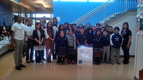Participants in a science program at UT Southwestern organized by Saipraveen Srinivasan.
